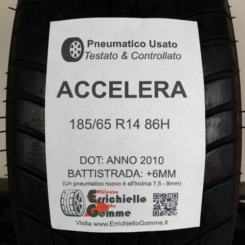 185/65 R14 86H Accelera – 70% +6mm Gomma Estiva