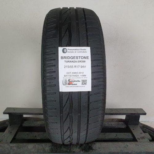 215/55 R17 94V Bridgestone Turanza ER300 – 50% +4mm Gomma Estiva