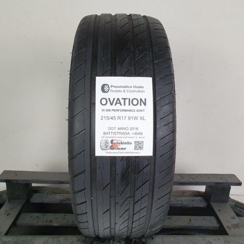 215/45 R17 91W XL Ovation VI-388 Performance DSRT (Runflat) – 50% +4mm Gomma Estiva
