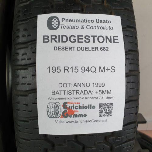 195 R15 94Q M+S Bridgestone Desert Dueler 682 – 60% +5mm – Gomme Invernali