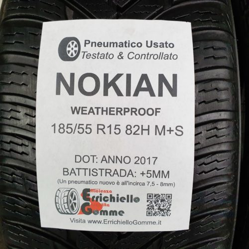185/55 R15 82H M+S Nokian WeatherProof – 60% +5mm – Gomme 4 Stagioni