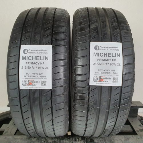 215/50 R17 95W XL Michelin Primacy HP –  60% +5mm – Gomme Estive