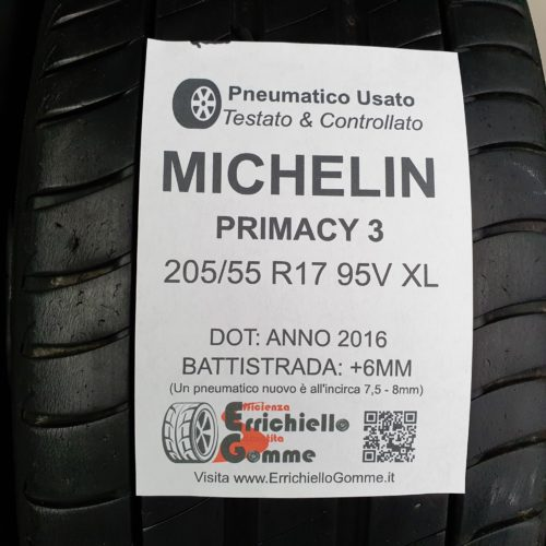 205/55 R17 95V XL Michelin Primacy 3 – 70% +6mm – Gomme Estive