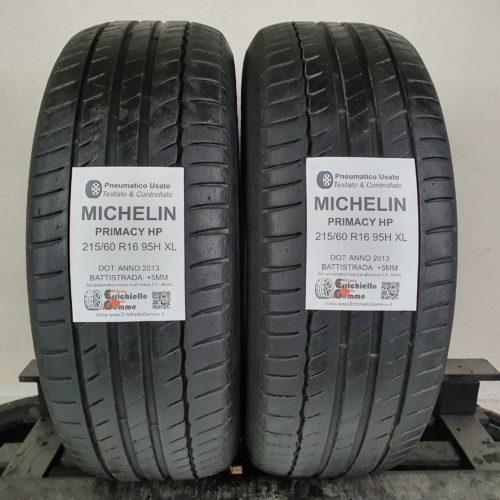 215/60 R16 95H XL Michelin Primacy HP – 60% +5mm – Gomme Estive