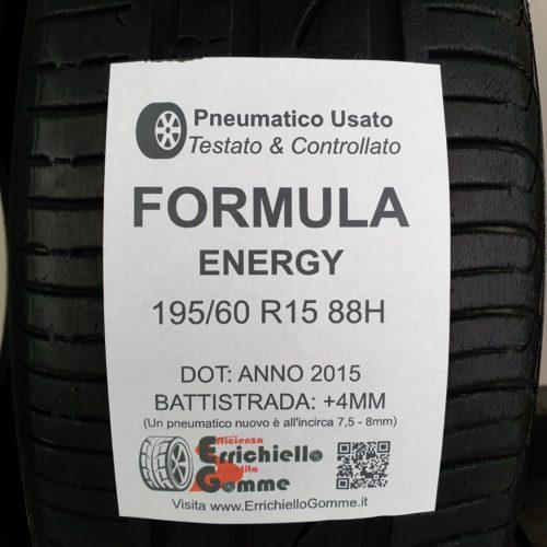195/60 R15 88H Formula Energy – 50% +4mm – Gomme Estive