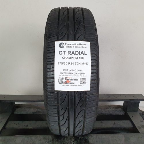175/60 R14 79H M+S GT Radial Champiro 128  – 60% +5mm Gomma 4 Stagioni