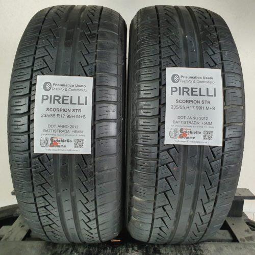 235/55 R17 99H M+S Pirelli Scorpion STR – 60% +5mm Gomme 4 Stagioni