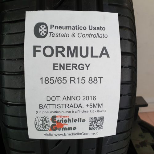 185/65 R15 88T Formula Energy – 60% +5mm – Gomme Estive