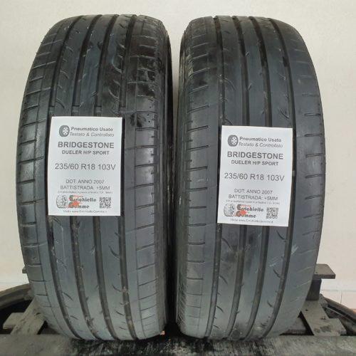 235/60 R18 103V Bridgestone Dueler H/P Sport – 60% +5mm – Gomme Estive