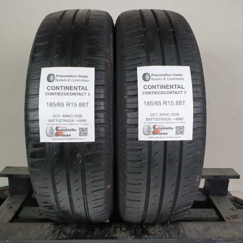 185/65 R15 88T Continental ContiEcoContact 5 – 70% +6mm – Gomme Estive