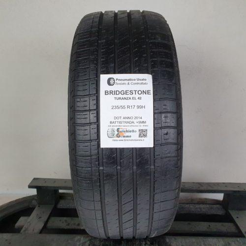 235/55 R17 99H Bridgestone Turanza EL42 – 60% +5mm – Gomma Estiva
