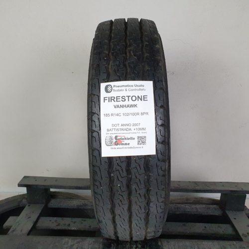 185 R14C 102/100R 8PR Firestone VanHawk – 100% +8mm Gomma Estiva Trasporto