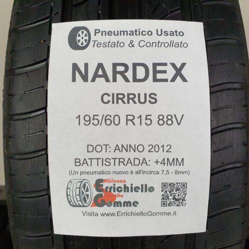 195/60 R15 88V Nordex Cirrus – 50% +4mm – Gomma Estiva