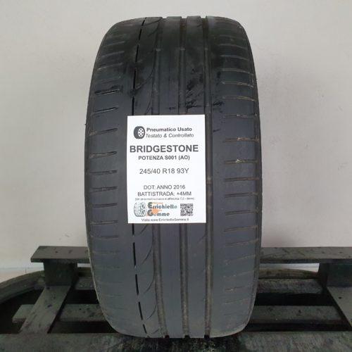245/40 R18 93Y Bridgestone Potenza S001 (AO) – 50% +4mm – Gomma Estiva