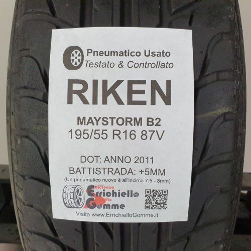 195/55 R16 87V Riken Maystorm B2 – 60% +5mm – Gomma Estiva
