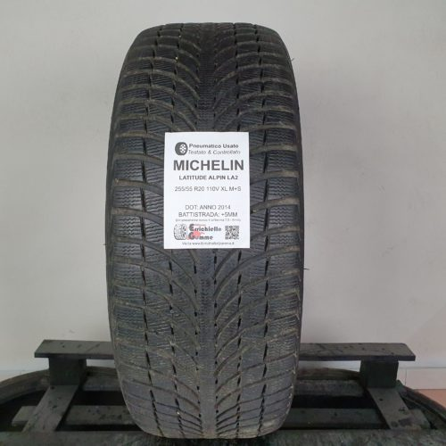 255/55 R20 110V XL M+S Michelin Latitude Alpin LA2 – 60% +5mm Gomma Invernale