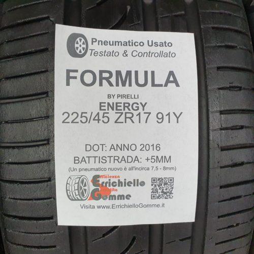 225/45 ZR17 91Y Formula Energy – 60% +5mm – Gomme Estive