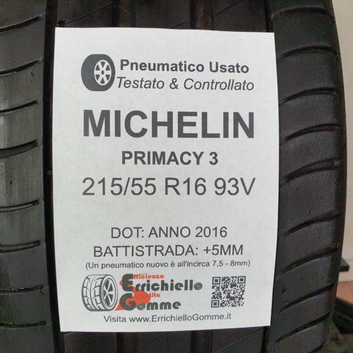 215/55 R16 93V Michelin Primacy 3 – 60% +5mm – Gomme Estive