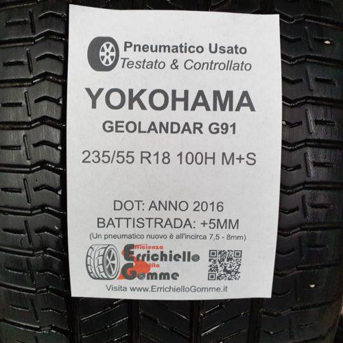 235/55 R18 100H M+S Yokohama Geolandar G91 – 60% +5mm – Gomme 4 Stagioni