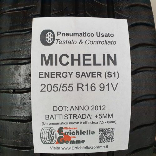 205/55 R16 91V Michelin Energy Saver (S1) – 60% +5mm – Gomme Estive