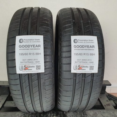 195/60 R15 88H Goodyear EfficientGrip Performance – 60% +5mm Gomme Estive