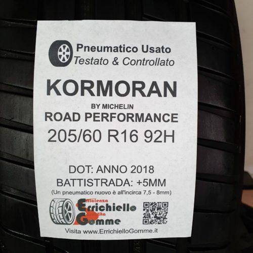 205/60 R16 92H Kormoran Road Performance – 60% +5mm Gomme Estive