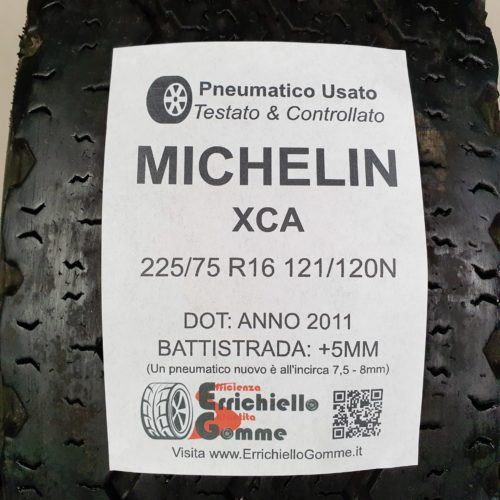 225/75 R16 121/120N Michelin XCA – 60% +5mm – Gomma Estiva
