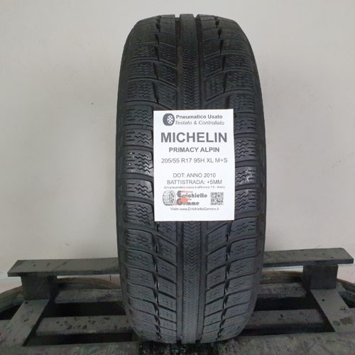 205/55 R17 95H XL M+S Michelin Primacy Alpin – 60% +5mm – Gomma Invernale