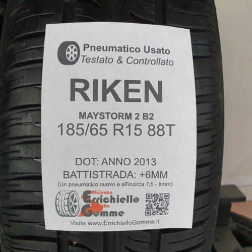 185/65 R15 88T Riken Maystorm 2B – 70% +6mm – Gomme Estive