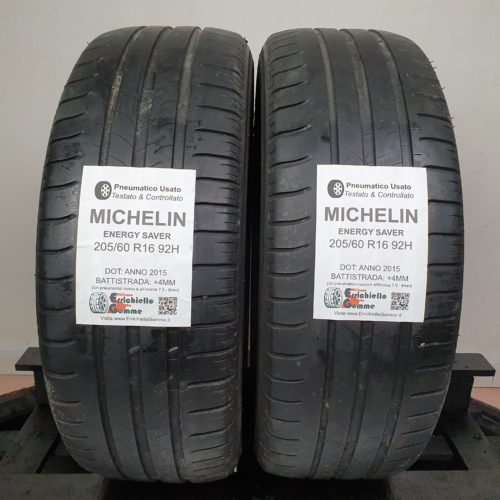 205/60 R16 92H Michelin Energy Saver – 50% +4mm – Gomme Estive