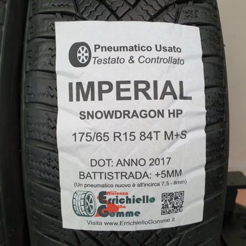 175/65 R15 84T M+S Imperial SnowDragon HP – 60% +5mm – Gomme Invernali