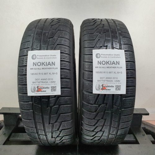185/60 R15 88T XL M+S Nokian WR G2 All Weather Plus – 50% +4mm – Gomme 4 Stagioni