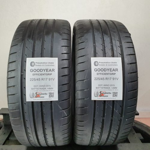 225/45 R17 91V Goodyear EfficientGrip –  50% +4mm – Gomme Estive
