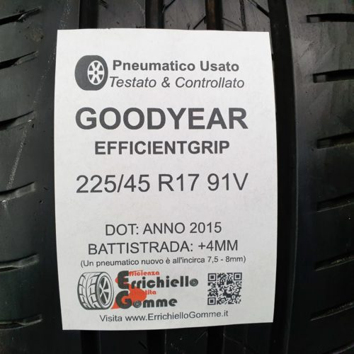 225/45 R17 91V Goodyear EfficientGrip –  50% +4mm – Gomme Estive