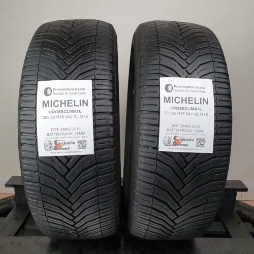 205/55 R16 94V XL M+S Michelin CrossClimate – 60% +5mm – Gomme 4 Stagioni