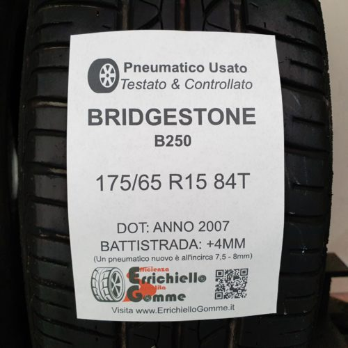 175/65 R15 84T Bridgestone B250 – 50% +4mm – Gomme Estive