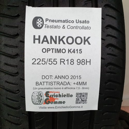 225/55 R18 98H Hankook Optimo K415 – 50% +4mm – Gomme Estive