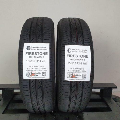 155/65 R14 75T Firestone MultiHawk 2 – 60% +5mm – Gomme Estive