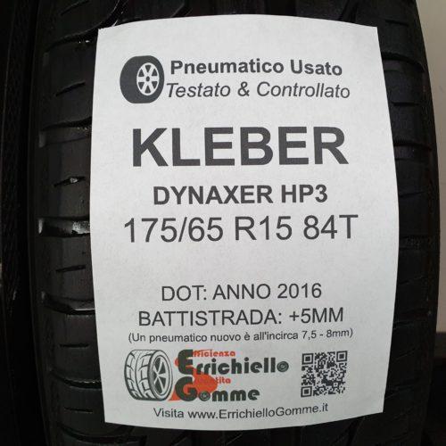 175/65 R15 84T Kleber Dynaxer HP3 – 60% +5mm – Gomme Estive