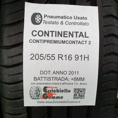 205/55 R16 91H Continental ContiPremiumContact 2 – 70% +6mm – Gomme Estive