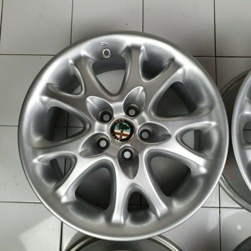 Set 4 Cerchi in Lega Originali Alfa Romeo 147 156 – 15″ Pollici 5 Fori ET41,5 6,5J