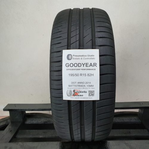 195/50 R15 82H Goodyear Efficientgrip Performance – 60% 5mm – Gomma Estiva