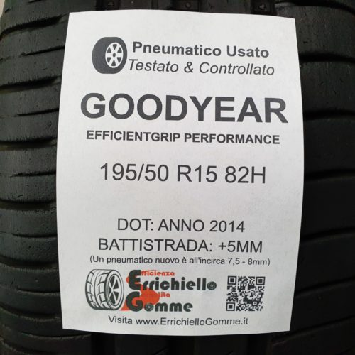 195/50 R15 82H Goodyear Efficientgrip Performance – 60% 5mm – Gomma Estiva