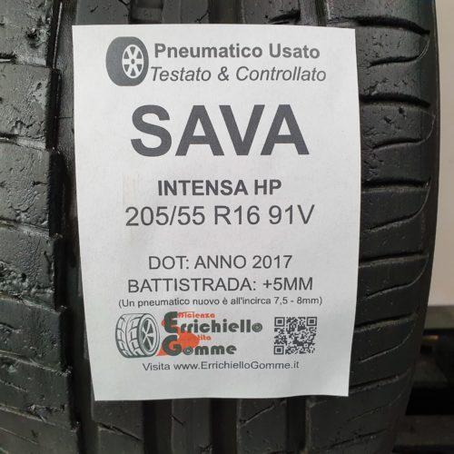 205/55 R16 91V Sava Intensa HP – 60% 5mm – Gomma Estiva