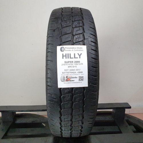 215/70 R15C 109/107R 8PR M+S Hilly Super2000 – 70% 6mm – Gomma 4 Stagioni Trasporto