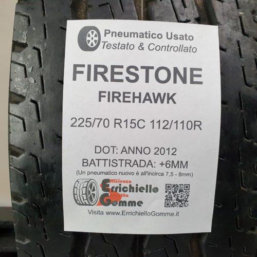 225/70 R15C 112/110R Firestone Firehawk – 70% 6mm – Gomma Estiva Trasporto
