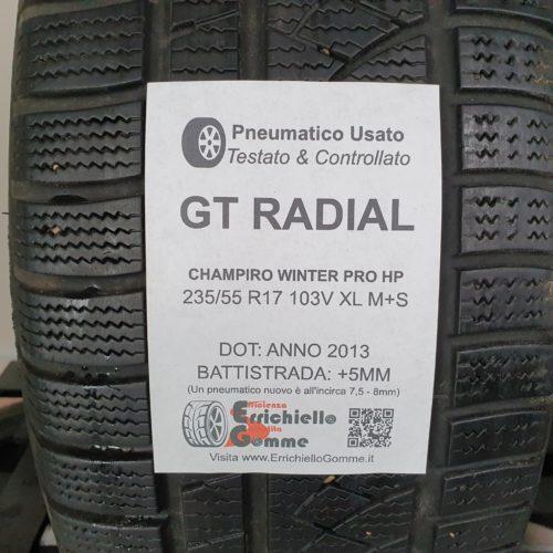 235/55 R17 103V XL M+S GT Radial Champiro Winter Pro HP – 60% 5mm – Gomma Invernale
