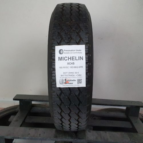 185 R15C 100/98Q 6PR Michelin XC4S – 90% 7mm – Gomma Estiva Trasporto