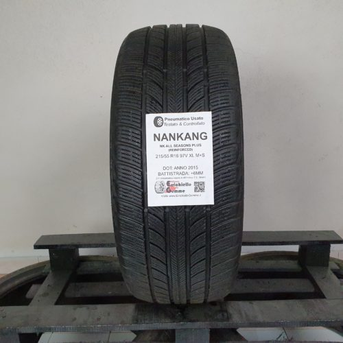 215/55 R16 97V XL M+S Nankang NK All Seasons Plus (Reinforced) – 70% 6mm – Gomma 4 Stagioni