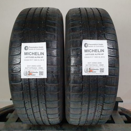 235/65 R17 108H XL M+S Michelin Latitude Alpin HP –  60% +5mm – Gomme 4 Stagioni